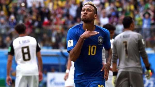Neymar scores his first goal in the 2018 FIFA World Cup