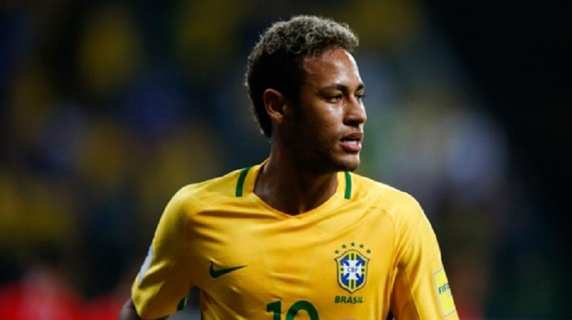 Neymar with the Brazilian National Team