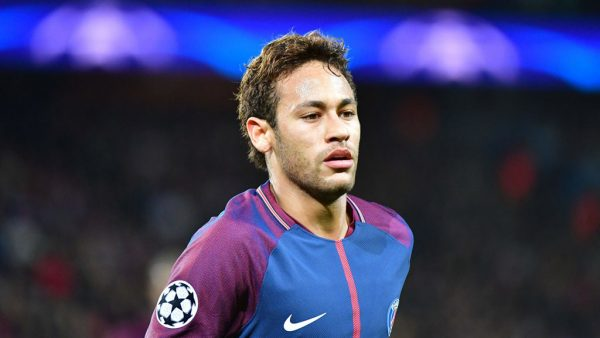 Neymar playing for PSG, in France