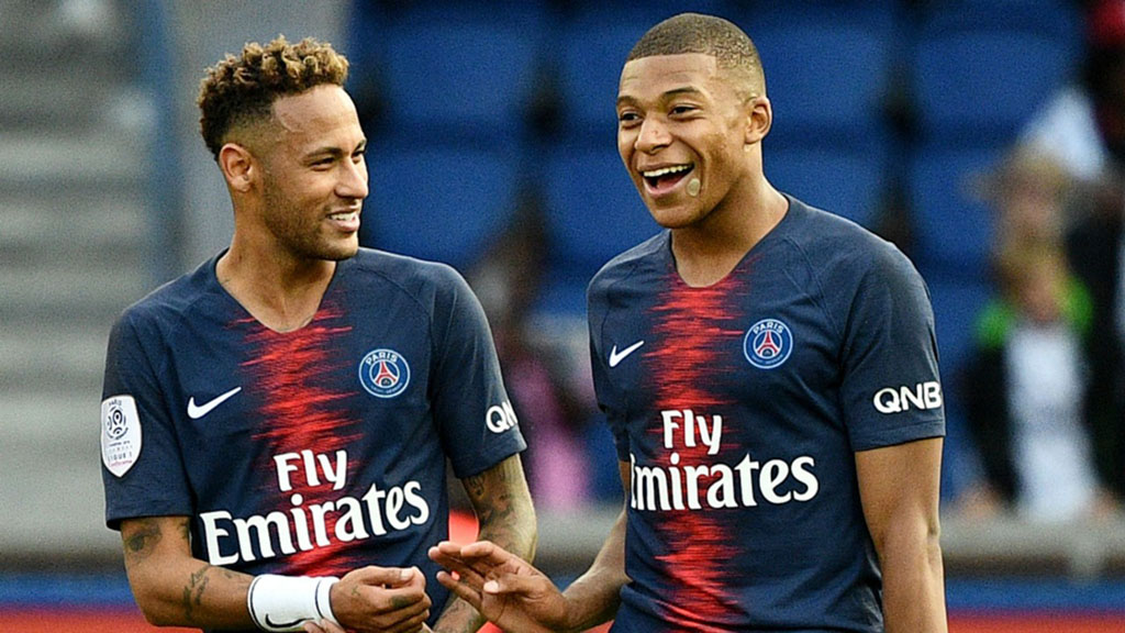 Neymar and Mbappé in PSG in 2018