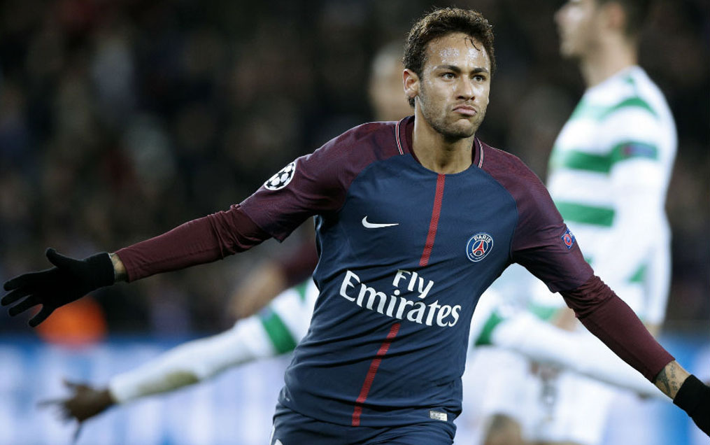 Neymar scores for PSG against Celtic