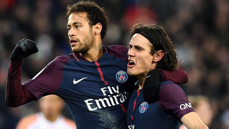 Neymar and Cavani - PSG attackers