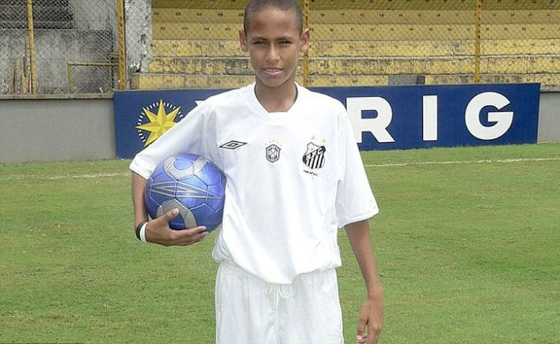 Neymar at the age of 14, in Santos