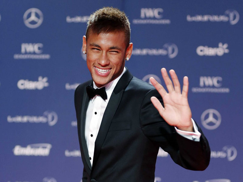 Neymar happy during an event
