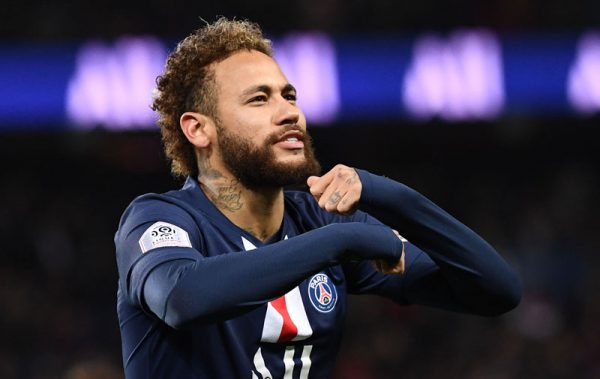 Neymar goal celebration in PSG